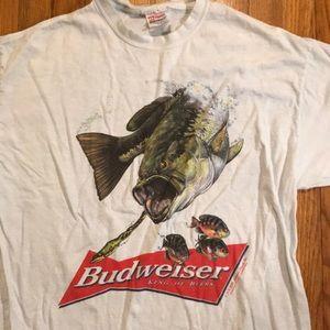 Vintage 2000 Budweiser Bass Fishing Shirt